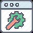 screwdriver, spanner, web preferences, web settings, webpage