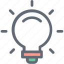 bulb, electric light, incandescent, light bulb, luminaire icon