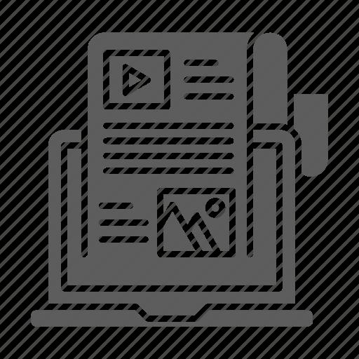 blog, content, optimization, seo, web icon