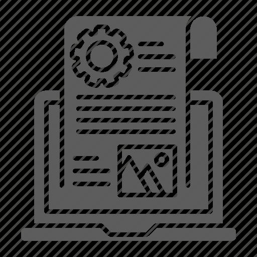 blog, computer, management, optimization, seo, web icon