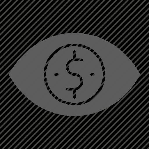 Impression, eye, web, optimization, per, cost, seo icon