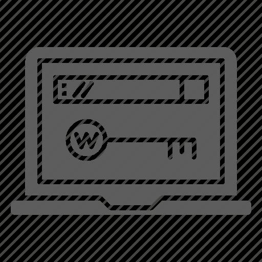 Seo, web, domain, optimization, key icon