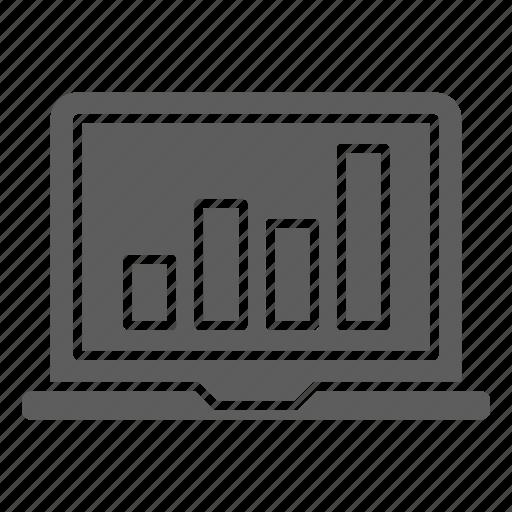 chart, growth, optimization, seo, traffic, web icon