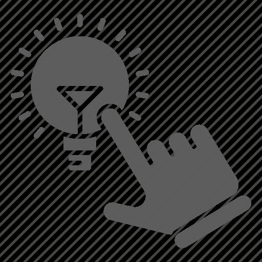 idea, light, optimization, seo, web icon