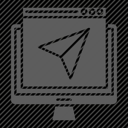landing, optimization, page, send, seo, web icon