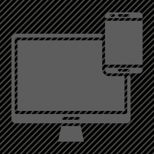 Web, screen, responsive, optimization, design, seo icon