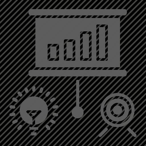 chart, optimization, seo, training, web icon