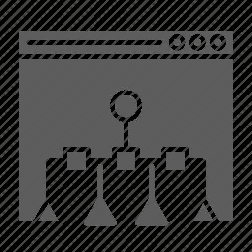 navigation, optimization, page, seo, sitemap, web icon