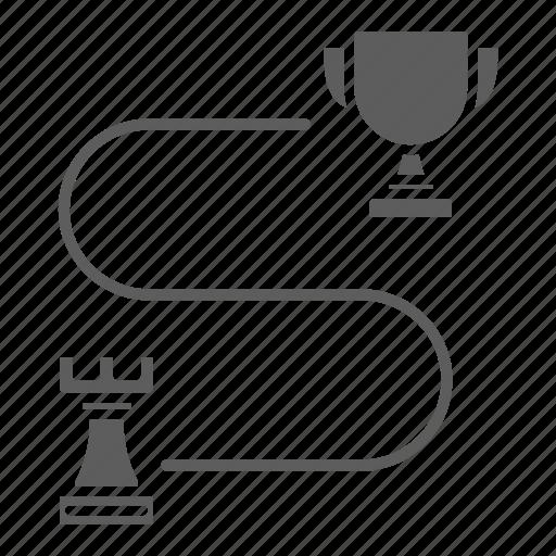 Seo, web, optimization, victory, strategy icon