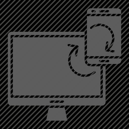 Seo, web, synchronization, optimization, devices icon