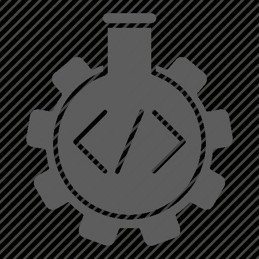 lab, optimization, programming, seo, testing, tube, web icon