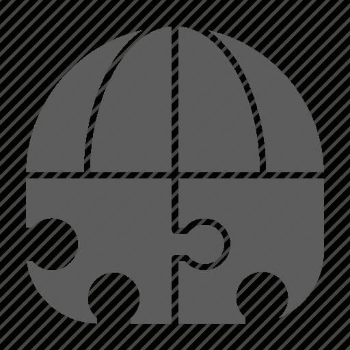 global, optimization, puzzle, seo, solution, web icon