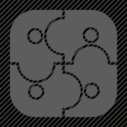 optimization, partners, puzzle, seo, web icon
