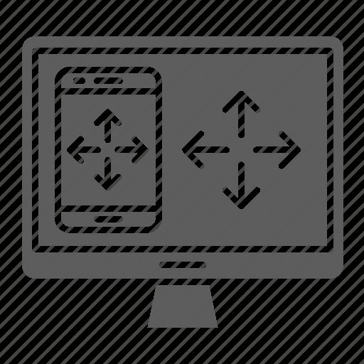 design, optimization, responsive, screen, seo icon