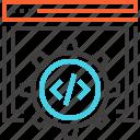 code, coding, cogwheel, optimization, options, settings, web
