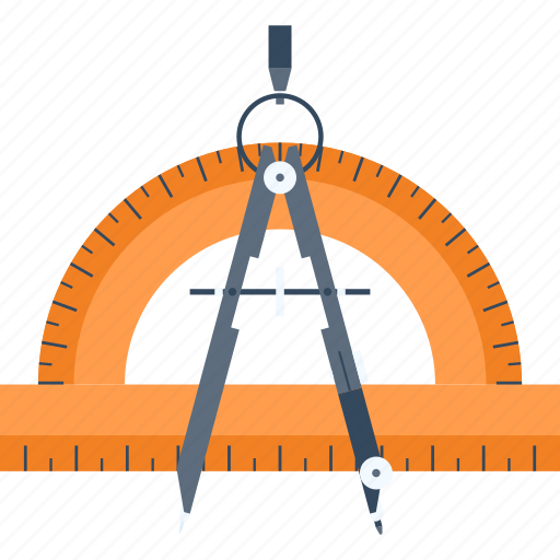 Compass, design, drawing, geometry, graphic, ruler, tool icon - Download on Iconfinder