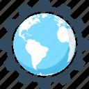 cogwheel, development, international, optimization, seo, settings, web icon