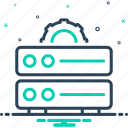 cms, data management, database, document, file, server, storage icon