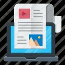 article, blog, optimization, seo, social, web icon