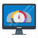 dashboard, meter, optimization, performance, speed, speedometer icon