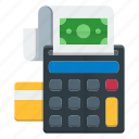 calculator, machine, methods, optimization, payment icon