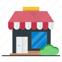 ecommerce, front, market, shopping, store icon