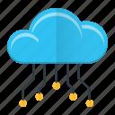 circuit, cloud, computing, technology icon