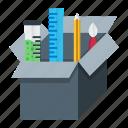 box, creative, design, development, optimization, package icon