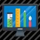 demonstration, design, freelance, graphic, portfolio icon