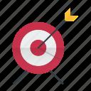 focus, goal, seo, targeting icon