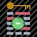 keyword, seo, targeting, web icon
