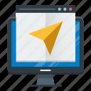 landing, mail, marketing, message, page, send