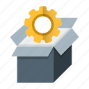 box, delivery, optimization, package, seo icon