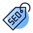 seo, solution, tag icon