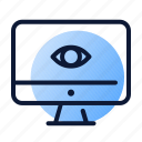 eye, monitor, research, website icon