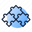 combination, piece, puzzle, seo icon