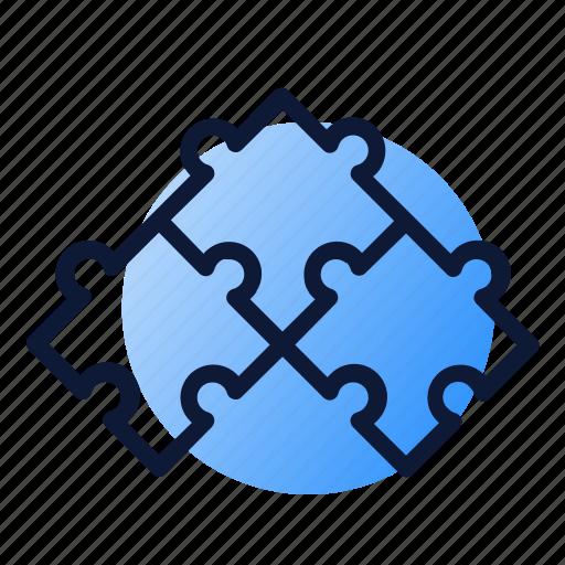 combination, piece, puzzle, seo icon