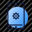 gear, mobile, responsive, seo, smartphone icon
