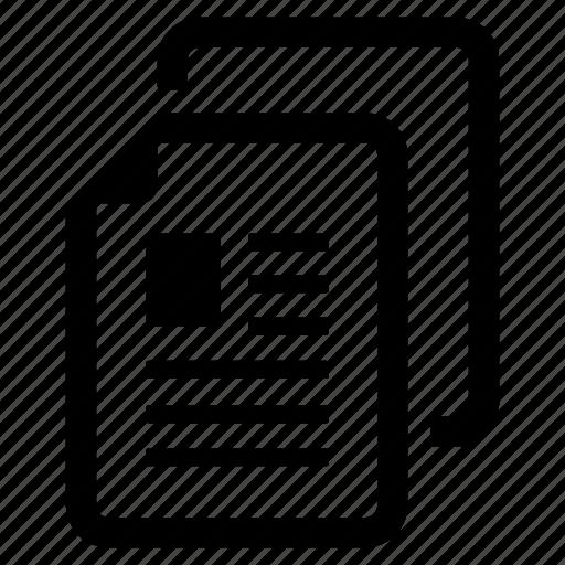 article, blog, business, content, copy, document, paper icon