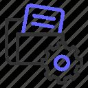 data, file, folder, seo, setting, setup icon