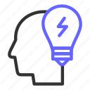 bulb, business, finding, ideas, seo, starup icon