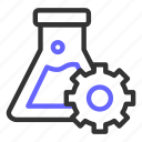 chemistry, glass, optimization, research, science, seo, setting icon