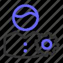 account, person, seo, setting, setup, user icon
