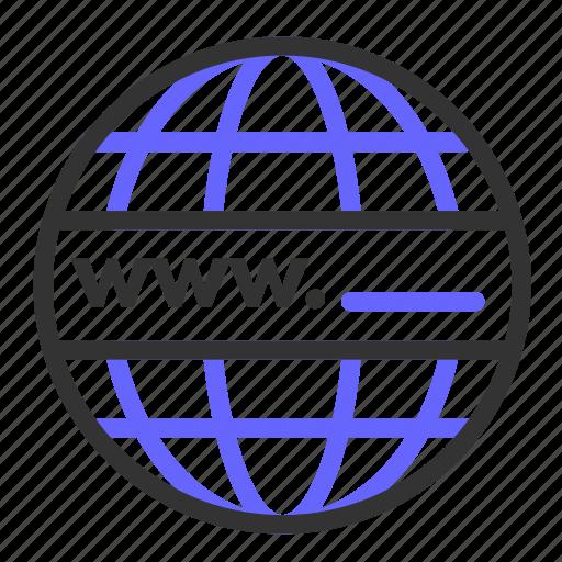 domain, globe, seo, web, website, www icon