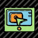 business, click, content, marketing, pay per click, seo, service icon