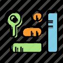 analysis, graph, key, keyword, marketing, seo, service icon
