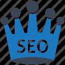 king, seo, seo icons, seo pack, seo services, social media, web designer icon