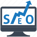 ranking, seo, seo pack, seo services, social media, web designer icon