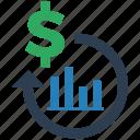 investment, return, seo icon