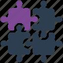 integration, puzzle icon